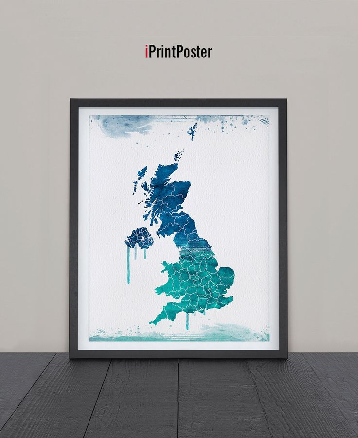 United Kingdom map, Art, Print, UK Watercolor map, UK map poster, Poster, Art, Illustration, Artwork, UK wall art, Home Decor, iPrintPoster. by iPrintPoster on Etsy https://www.etsy.com/listing/231203714/united-kingdom-map-art-print-uk