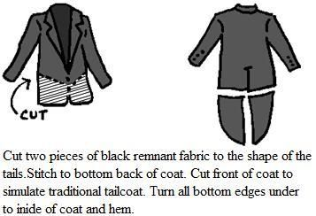 how to make a tailcoat; from a link found on rockyhorrorcostumelist.info