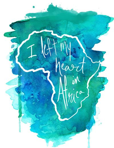 Print - I Left My Heart In Africa - blue | Olivia Boyd
