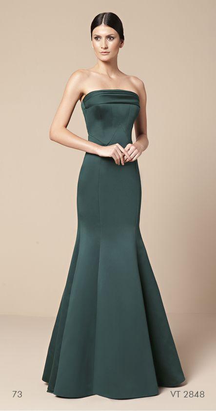 vestido longo tomara-que-caia verde Mabel Magalhães