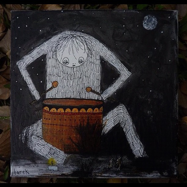 #barek #troll #canvas#copic#posca #grass#drums#drummer#moon by *Barek*, via Flickr