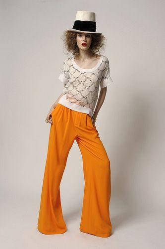 awesome orange palazzo pants