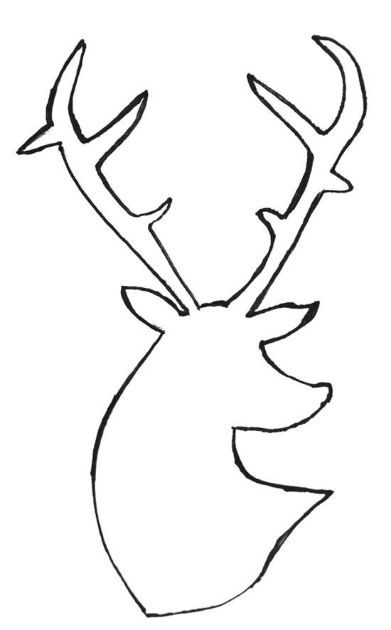 deer silhouette free image. Alot of possibilities to do with this...pillow, plates, artwork.