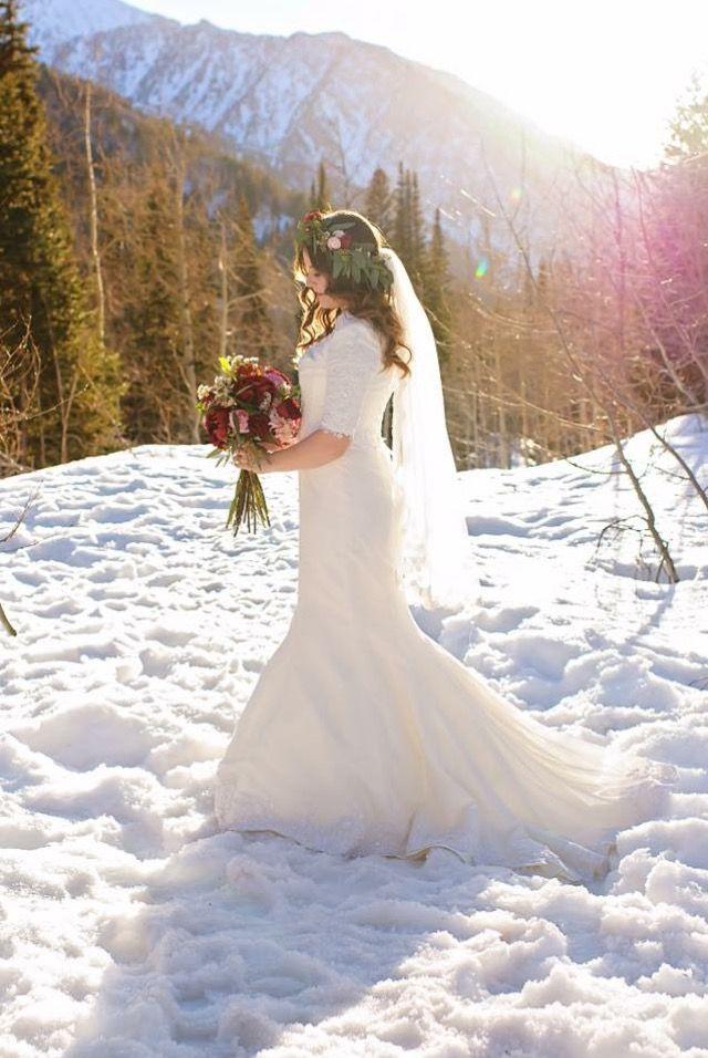 Bride Madison In Her Gbp Rented Wedding Dress Utah Rental Modest
