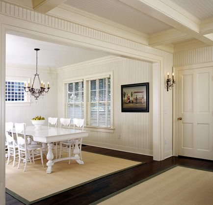 Black And White Wallpaper Ideas For Living Room Sears Beadboard Ceilings In Hallway   Dining ...