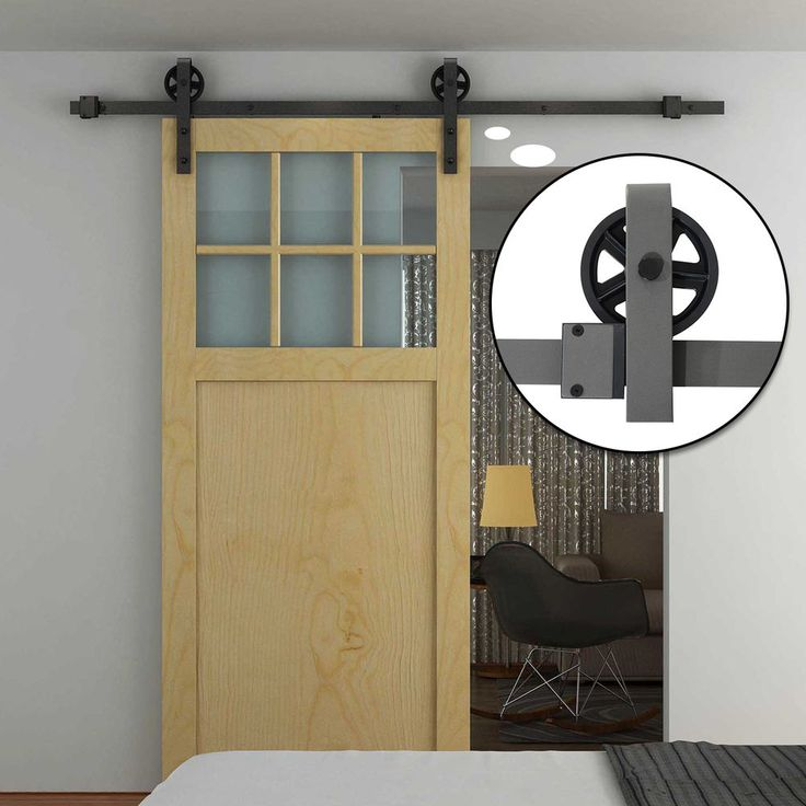 HOMCOM Carbon Steel Sliding Barn Wood Door Hardware Closet Track  Rail System Set  I want this one!