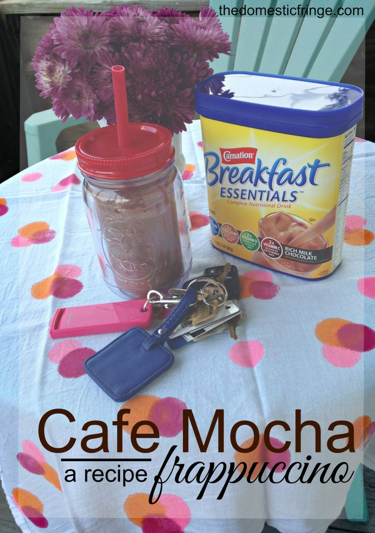 Cafe Mocha Frappuccino Recipe with Carnation Breakfast Essentials - a Quick & Easy Breakfast #BreakfastEssentials #PMedia #ad