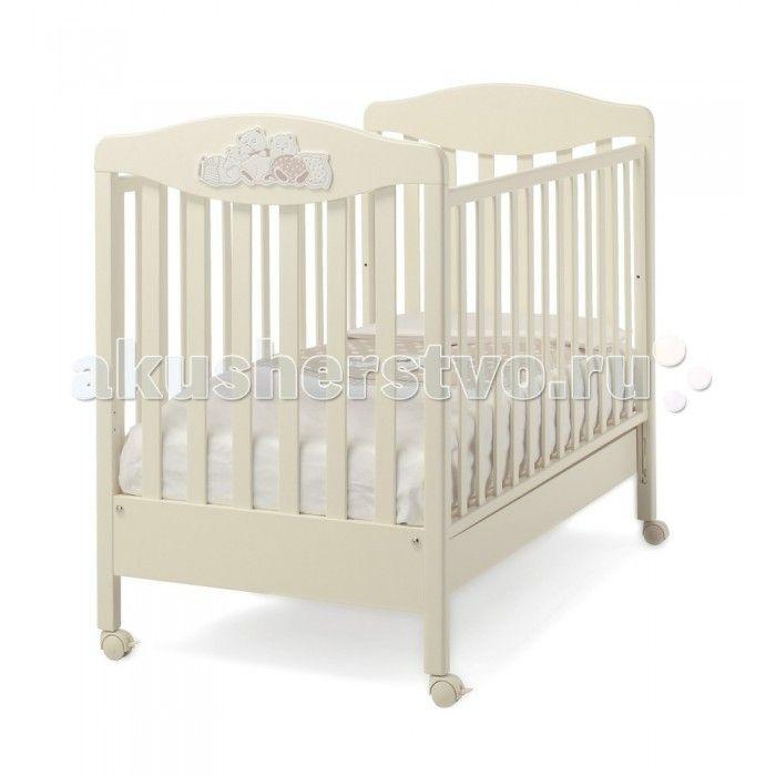 Детская кроватка Erbesi Tippy  Детская кроватка Erbesi Tippy – необычайно изысканная, выполненная в утонченном итальянском стиле, она подарит Вашему малышу самые сладкие и добрые сны. Дно кроватки регулируется по высоте на двух уровнях, а бортики опускаются на 20-25 см, позволяя подстроить ее под размеры именно Вашей крохи. Вместительный выдвижной ящик в основании и четыре поворотных колесика, два из которых оснащены стопорами.  Особенности: Двухуровневое дно , в виде ортопедической сетки из…