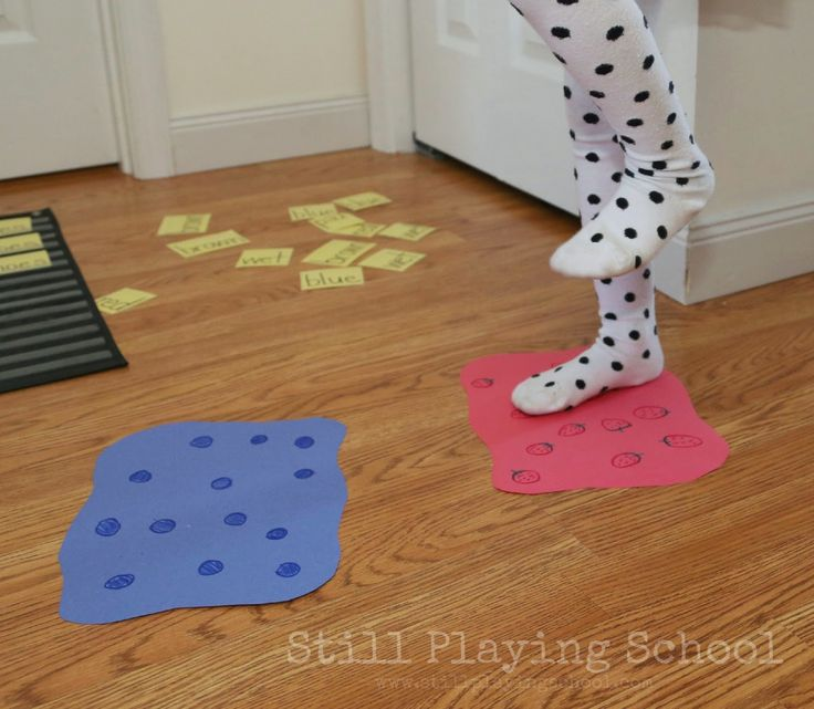 Pete the Cat Inspired Reading and Gross Motor Game | Still Playing School