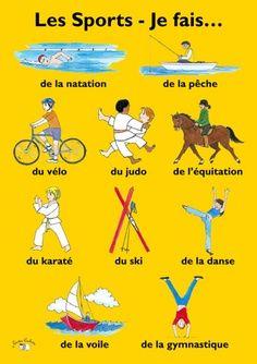 Les sports - Je fais de la gymnastique. Et vous?  Aprende francés en Francia cursos@enidiomas.com