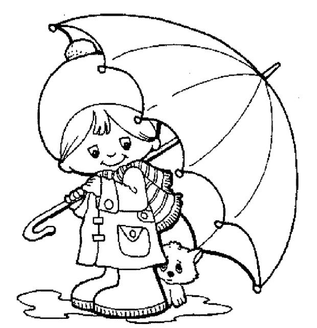 Umbrella Coloring Page For Toddlers Coloring Pages