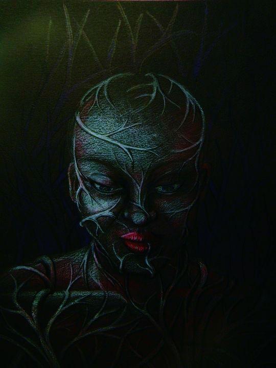 *Dolor* Pastel tiza. 25 x 35 cm. Año 2010.