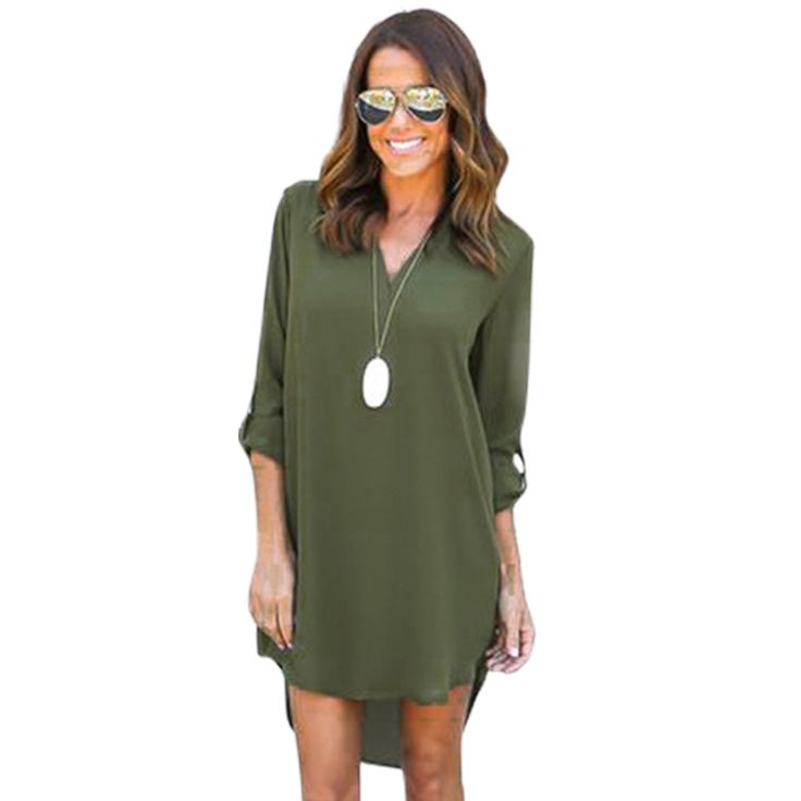 Elegant Women Dress Full Sleeve Solid Shirt Dresses Vintage Vestidos De Festa Autumn Dress Mini Dresses Plus Size 3XL LJ5052U