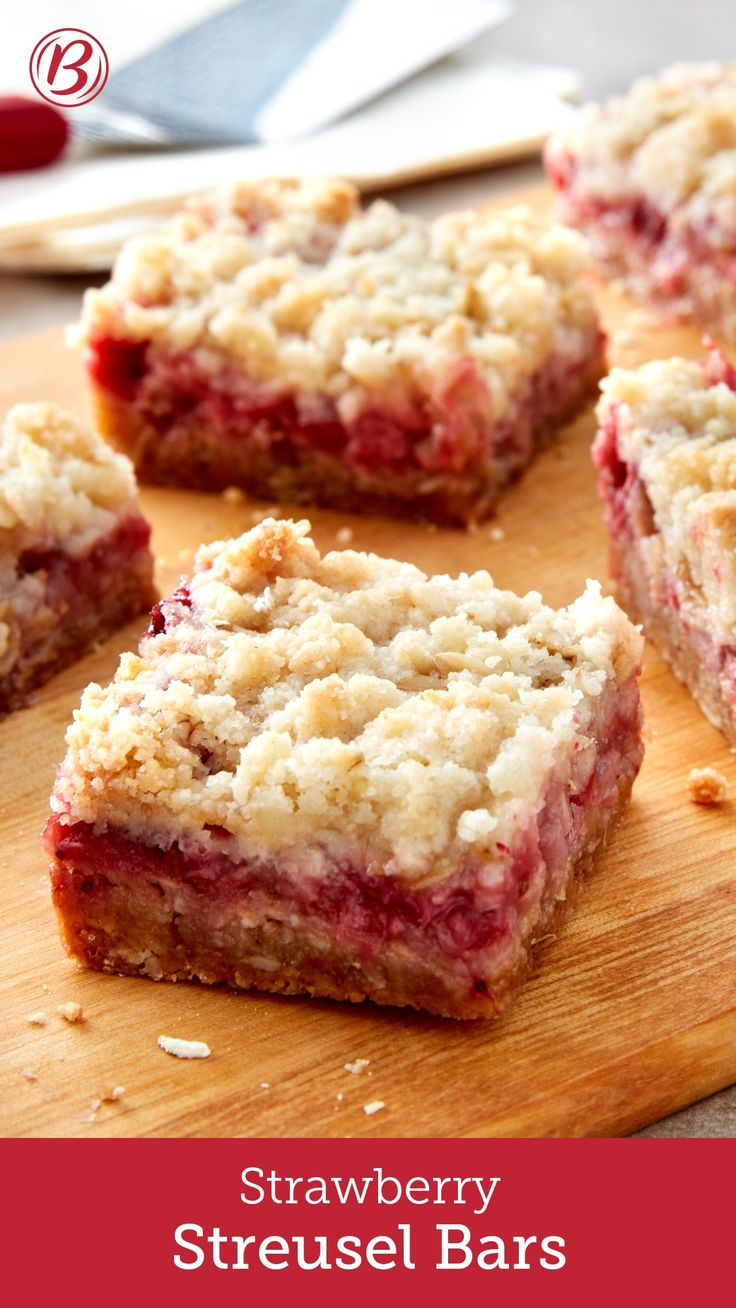 This sweet streusel-topped strawberry cookie bar is the perfect treat for summertime.