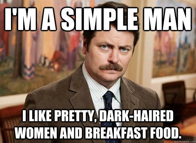 How Ron Swanson Are You? You got: Simple Man Swanson You have simple pleasures in life, but those pleasures just happen to be the greatest ones around. Given the choice, you'd crawl off into a cabin in the woods with a bottle of whiskey and only get calls from the grocery store to let you know that more bacon has come in.