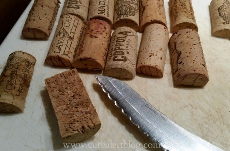 Curb Alert! : The Best Tip for Cutting Wine Corks in Half!