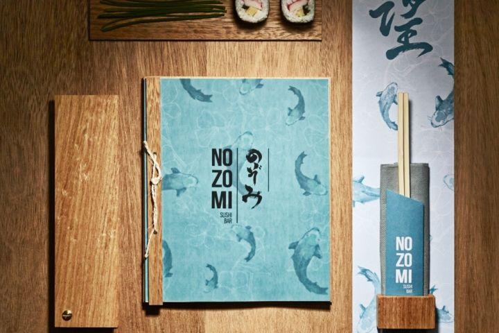Nozomi Suhi Bar branding by Masquespacio, Valencia - Spain