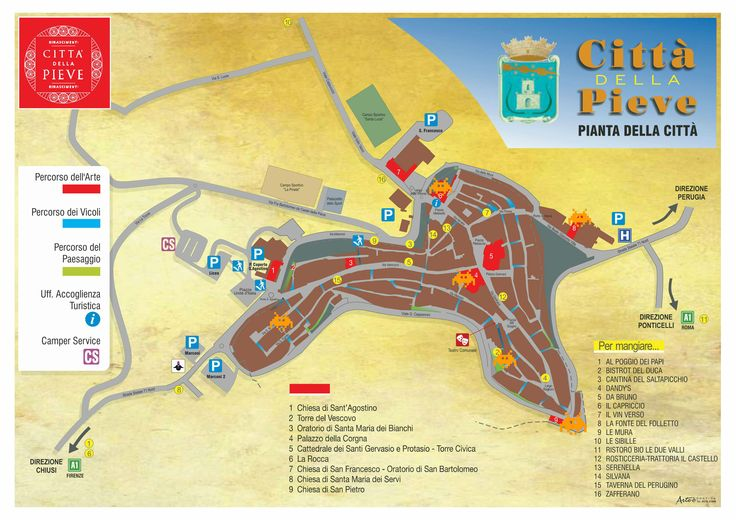 #mappa #cittàdellapieve #invasionidigitali 02/05 ! punti da invadere e luogo di ritrovo (Rocca)
