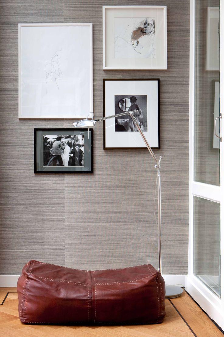 Pieces of art on a sisal wall | Maaike van Diemen