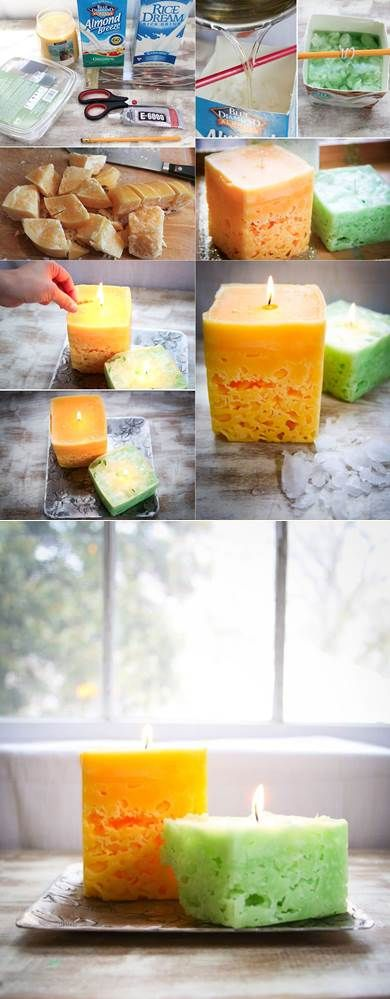 We used to make these in Elementary School. Still Cool -- Ice candles | DIY Stuff. Click on image for more.