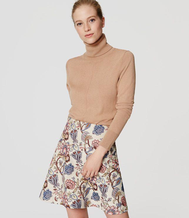 LOFT Petite Garden Flippy Skirt