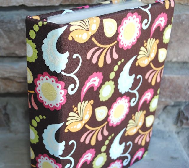 Make a fabric cover for a binder or notebook.  Maybe for one of my lightly used white binders, or my overused orange binder.  Probably the latter.  Love you, baby!