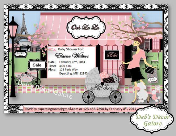 7 best paris theme baby shower images on pinterest paris theme this is a do it yourself paris themed baby shower invite prints solutioingenieria Choice Image
