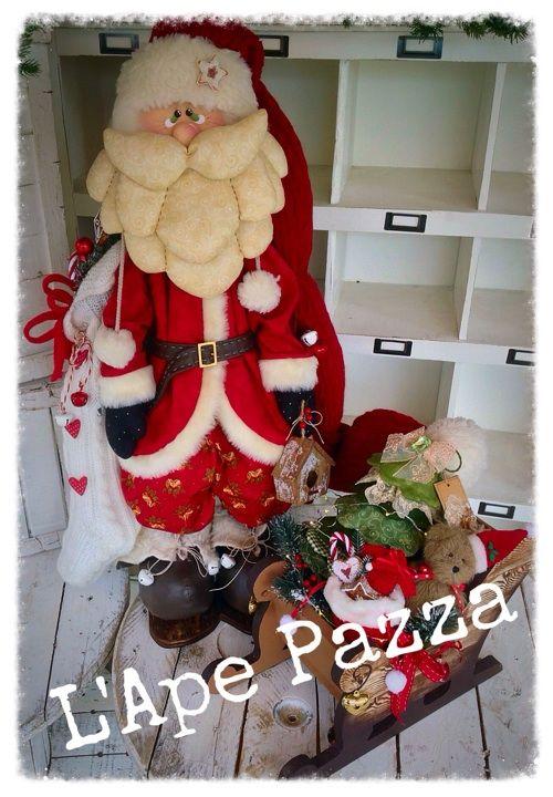 Cartamodelli babbi, renne elfi Natale 2015 : Babbo Camillo