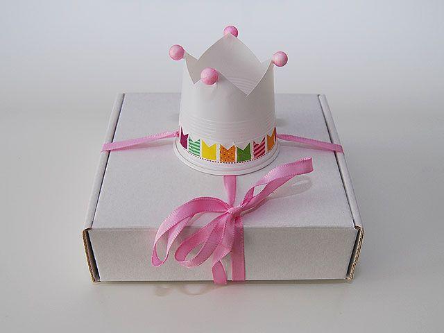 DIY- Kruunupäällysteinen paketti - Humua -kaikkien juhlien ideapankki
