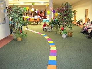 Candyland Theme baby shower entrance!