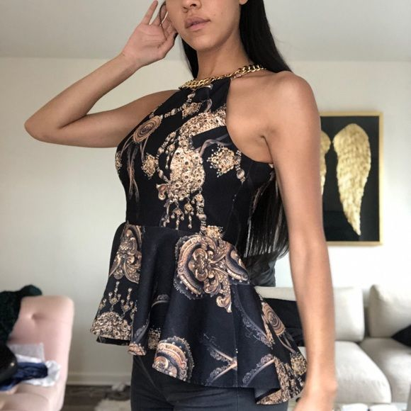 Made In Brazil Versace Style Top Bought This Top In Brazil Brand Lanca Perfume No Tags But Never Worn Not Versace Just Sim Top Styles Style Versace
