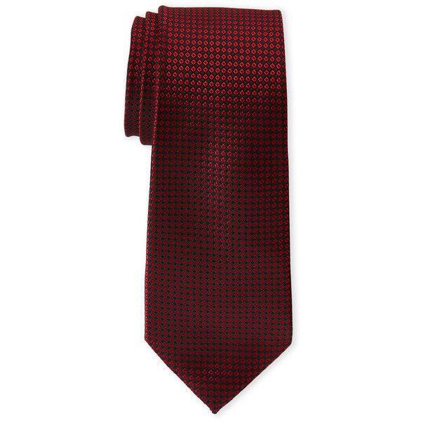 Pierre Cardin Contrast Pattern Slim Tie ($9.99) ❤ liked on Polyvore featuring men's fashion, men's accessories, men's neckwear, ties, red, mens red tie, mens slim ties and mens ties