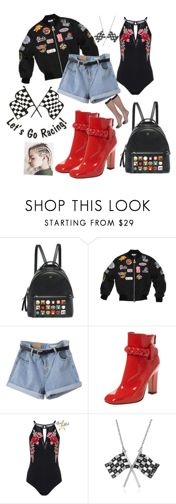"""""""Racing Date 🏁 ❤️"""" by nicolesauviat ❤ liked on Polyvore featuring Fendi, Valentino and Belk & Co."""