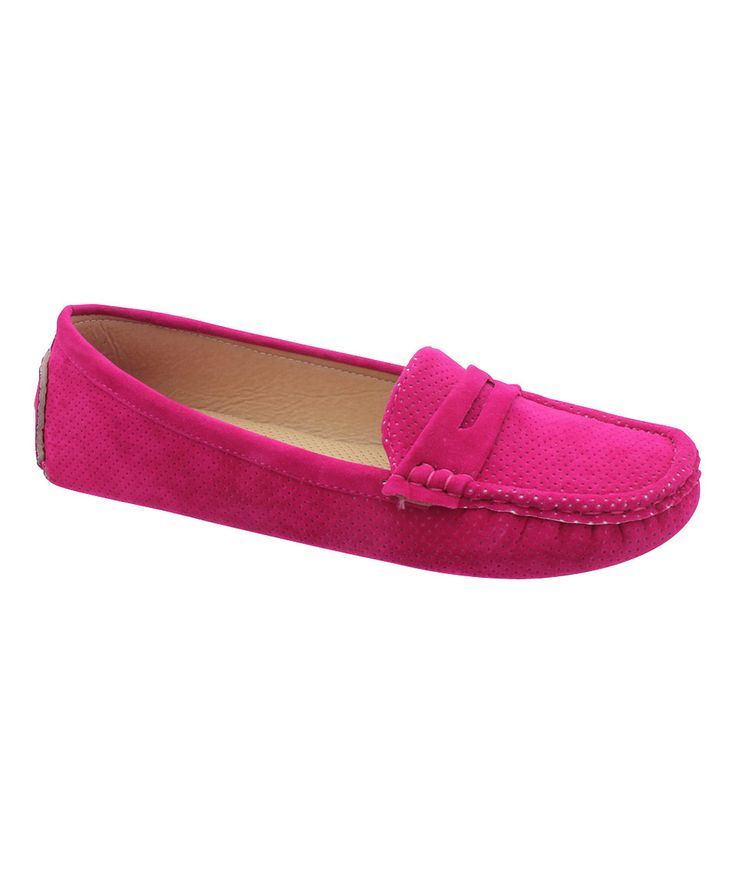Look what I found on #zulily! Pierre Dumas Fuchsia Driving Loafer by Pierre Dumas #zulilyfinds
