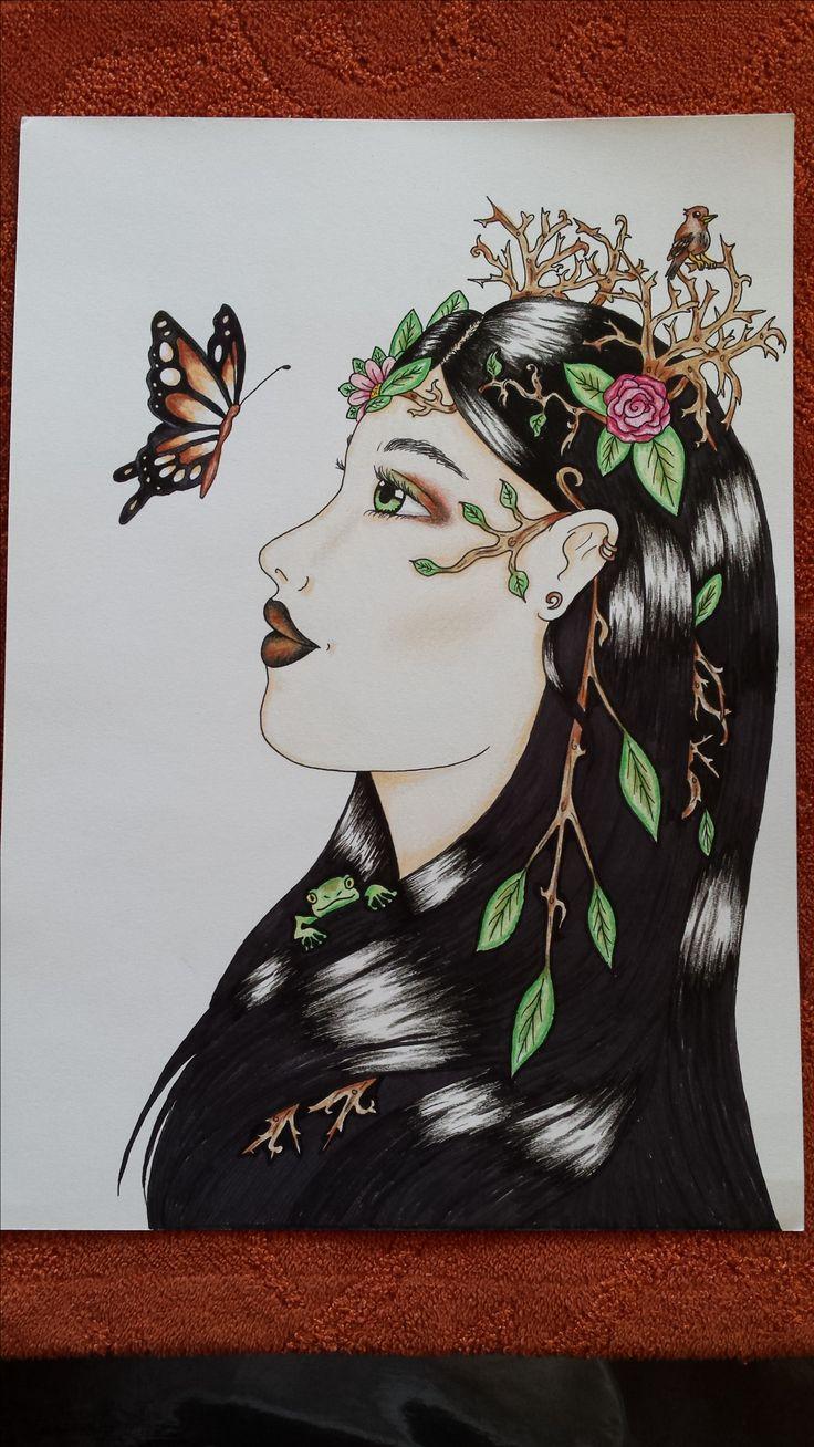 Portrait drawing nature