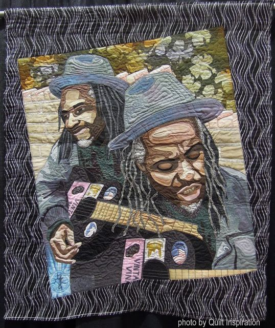 260 best Fabric Portraits images on Pinterest | Quilt art, Art ... : quilts usa - Adamdwight.com