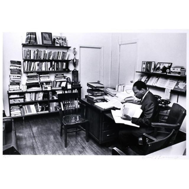 Benedict J. Fernandez,Dr. Martin Luther King in his office at the Southern Christian Leadership Conference Headquarters in Atlanta ca. 1967