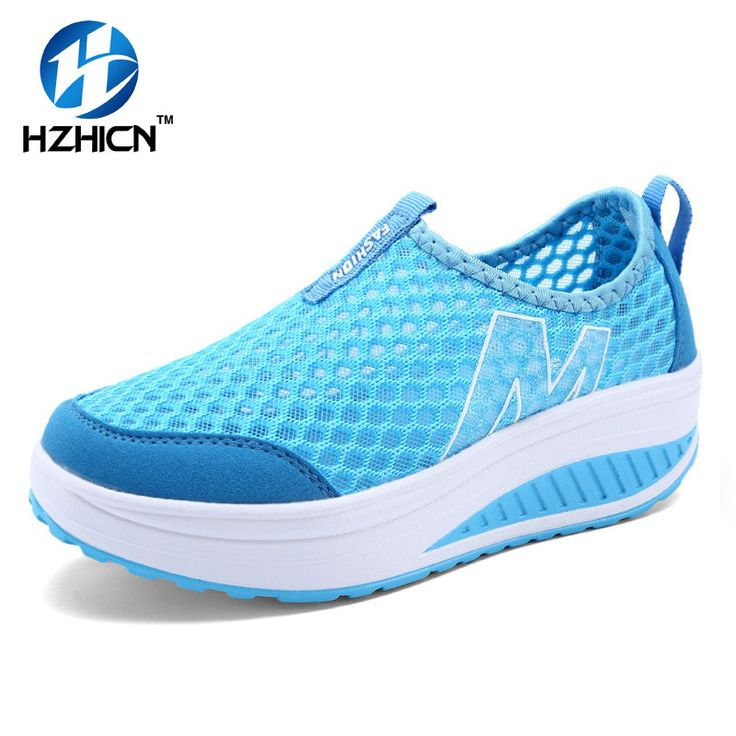 HZHICN Women Handmade Casual Shoes Breathable Platform Shoes Women Wedges Shoes Stretch Fabric Swing Health Chaussures Femme