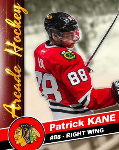 It's Kane Card #1 in Patrick Kane's Arcade Hockey - SOCIAL ROSTER   All you need to do is invite five Facebook friends in game to get it, and you've got five friends, right?  Get Patrick Kane's Arcade Hockey here http://www.dmc-ops.com/pkahstorelink.php