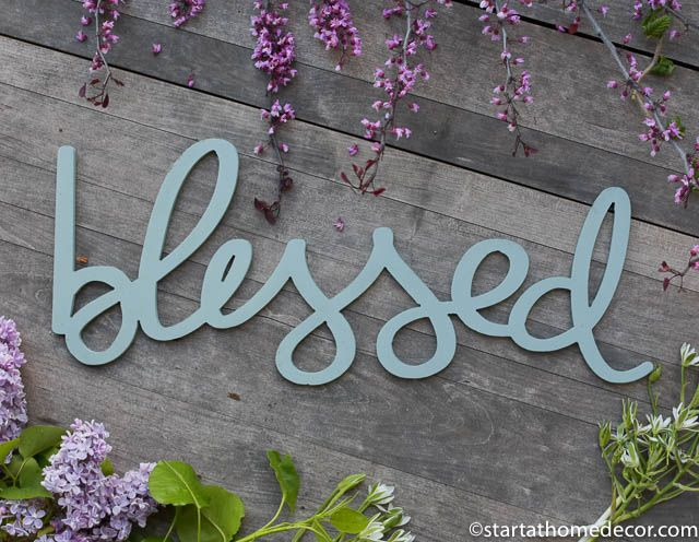 New Handwritten Word Cutouts are Here!! | Start at Home Decor