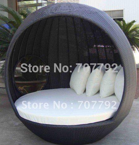 2017 Hot sale SG-12025C Elegant black rattan deck chair furniture