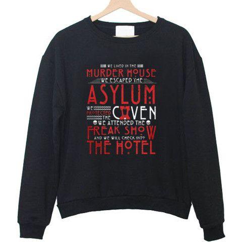 american horror story Sweatshirt  #sweatshirt #shirt #sweater #womenclothing #menclothing #unisexclothing #clothing #tops