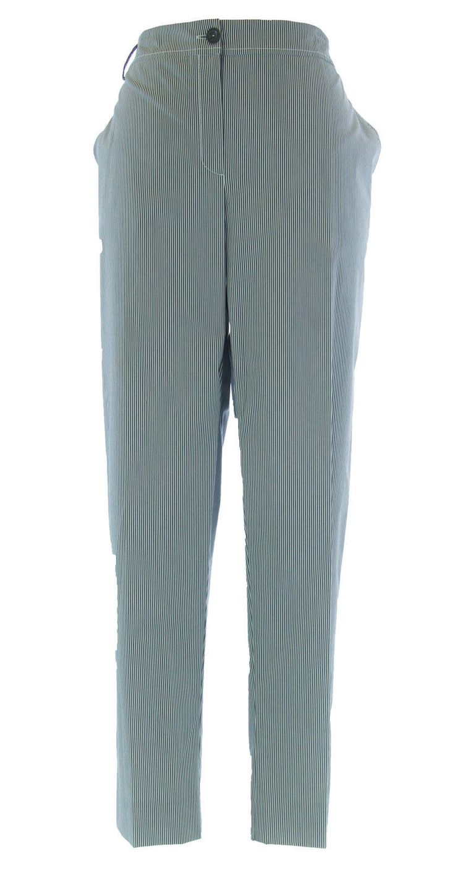 Marina Rinaldi By Maxmara Berzano Blue / White Pinstriped Dress Pants $285 Nwt