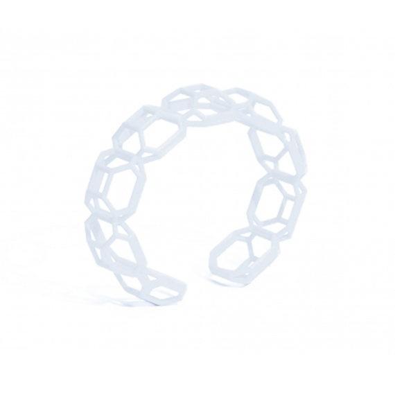 3D Printed Emerald Cut Diamond Shaped Bracelet  MYBF by Maison203, €44.00
