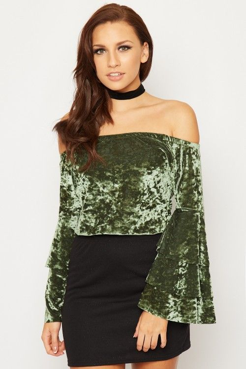 Teressa Crushed Velvet Boho Top | WearAll Find this gorgeous item at https://www.wearall.com/