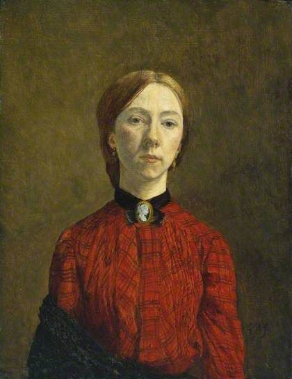 Self-Portrait by Gwen John Tate      Date painted: 1902     Oil on canvas, 44.8 x 34.9 cm     Collection: Tate