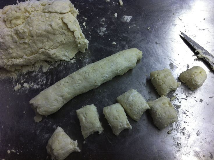 Divide and cut the dough