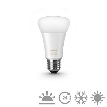 Bec LED Philips Hue white ambiance, 9.5W, A60, E27 http://www.etbm.ro/philips-hue-connected-lighting