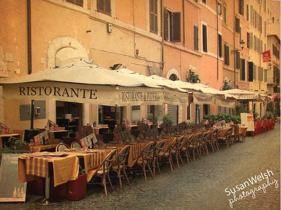 Italy vintage restaurant photograph home decor by