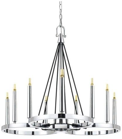 Cal Lighting 6w G9 LED X 9 Rimini Chandelier (G9 LED Bulbs Included)
